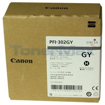 CANON PFI-302GY PIGMENT GRAY INK TANK 330ML